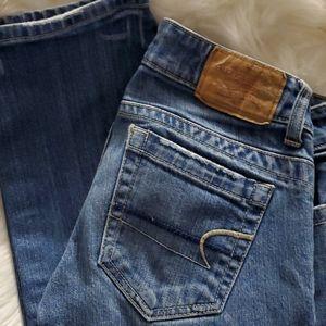 American Eagle size 0 stretch medium wash jeans